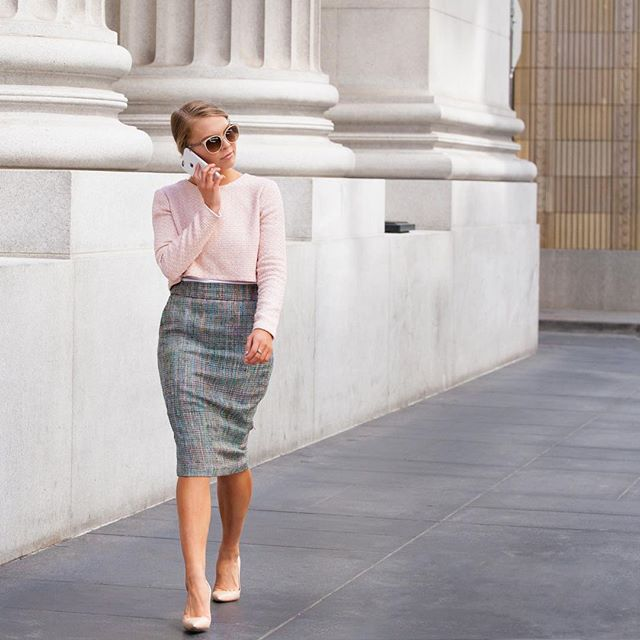 Show up for your life. 💕 (Senate Tweed Crop Top + Tech Tweed Pencil Skirt)