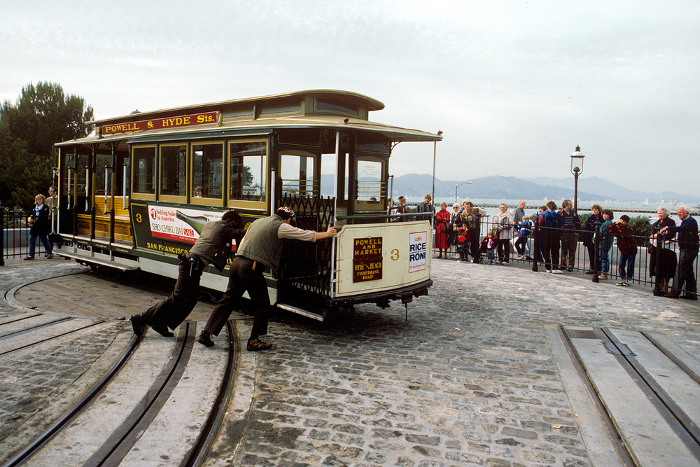 Turning the Cable Car