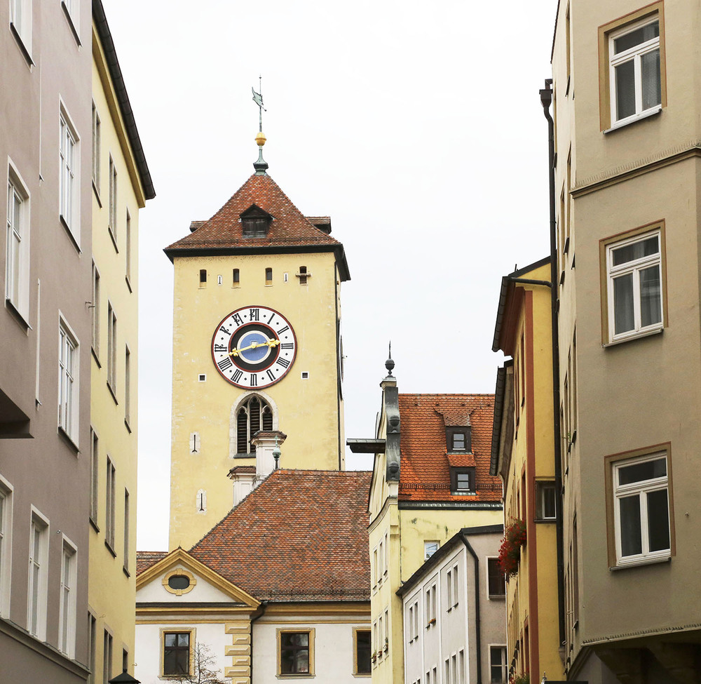The Clock Tower in Regensburg