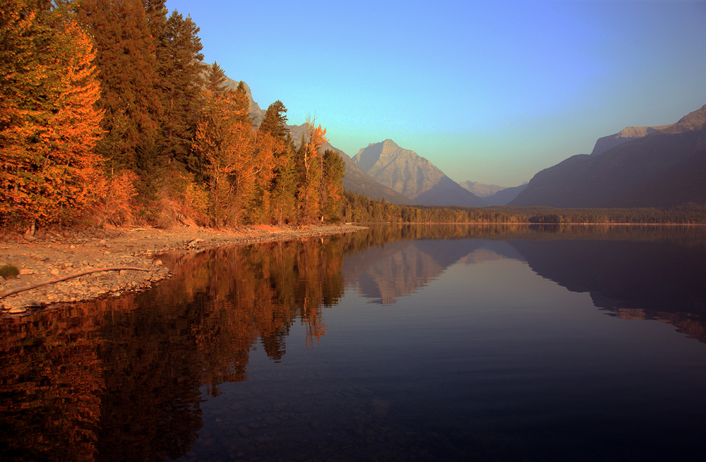 Fall Visits Lake McDonald