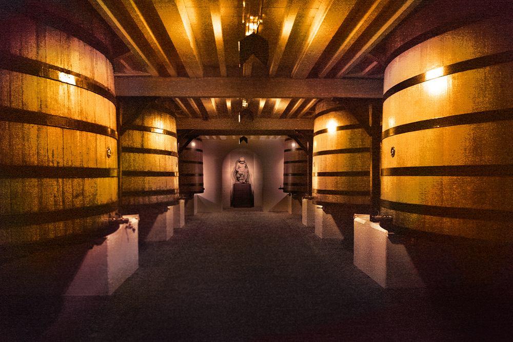 Barrel Room of Chateau Mouton-Rothschild