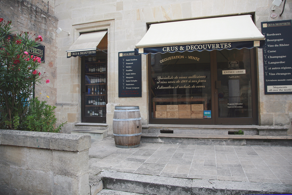 Wine shop in St. Emilion