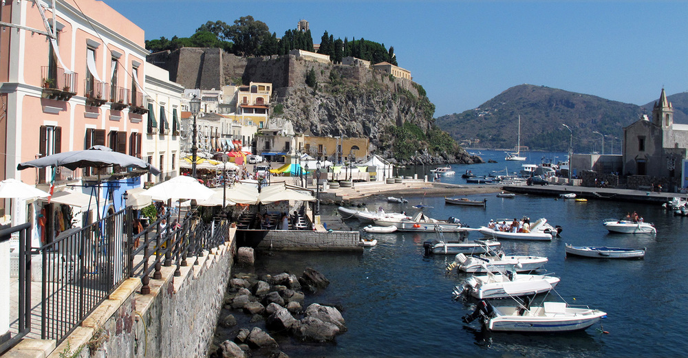 The Harbor in Lipari