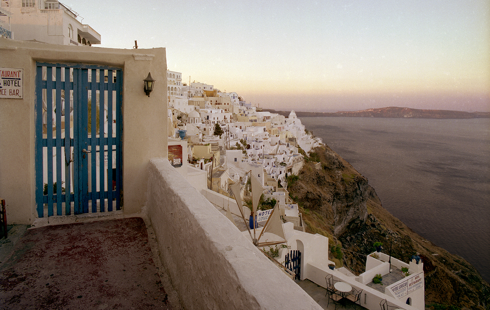 Afterglow in Santorini