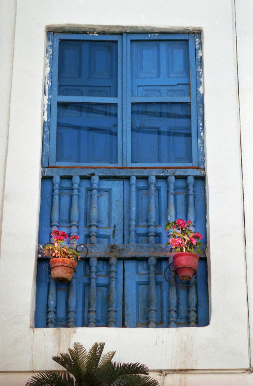 The blue Cuzco Doors