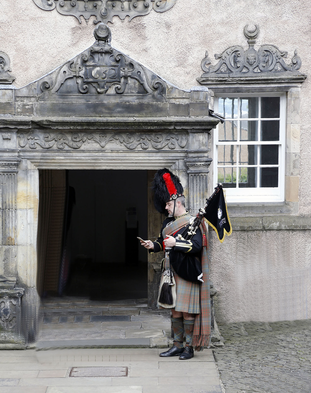 The Stirling Bagpiper
