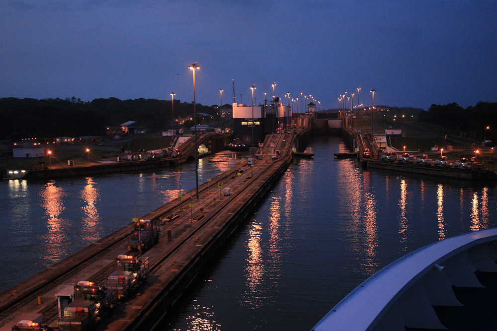 Approaching the Panama Canal