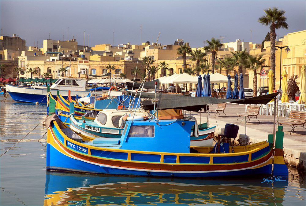 Fishing Boats in Valletta