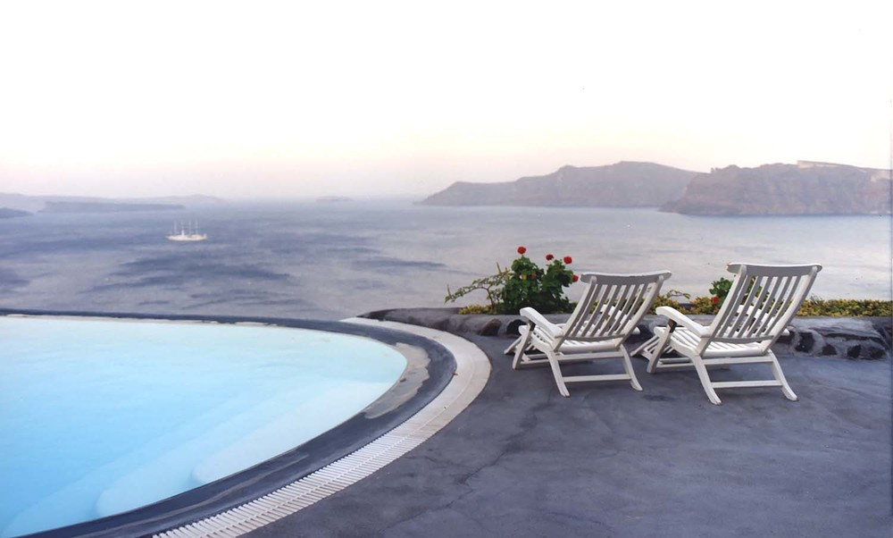 Two Chairs by the Oia Pool