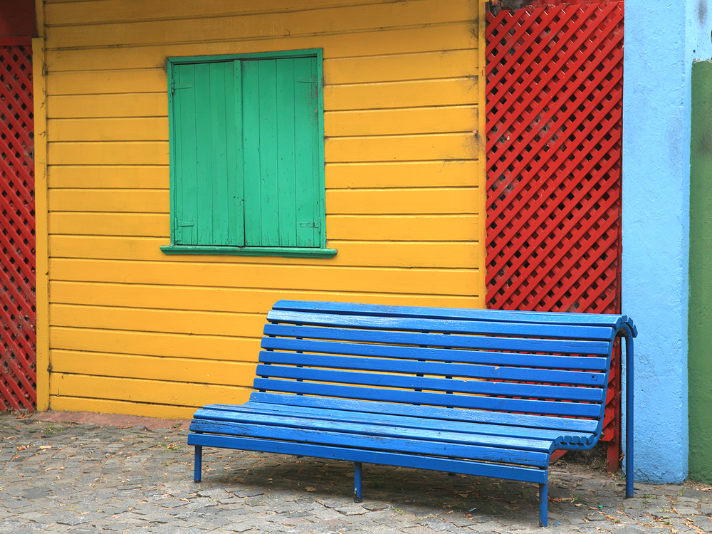 Blue Bench in La Boca