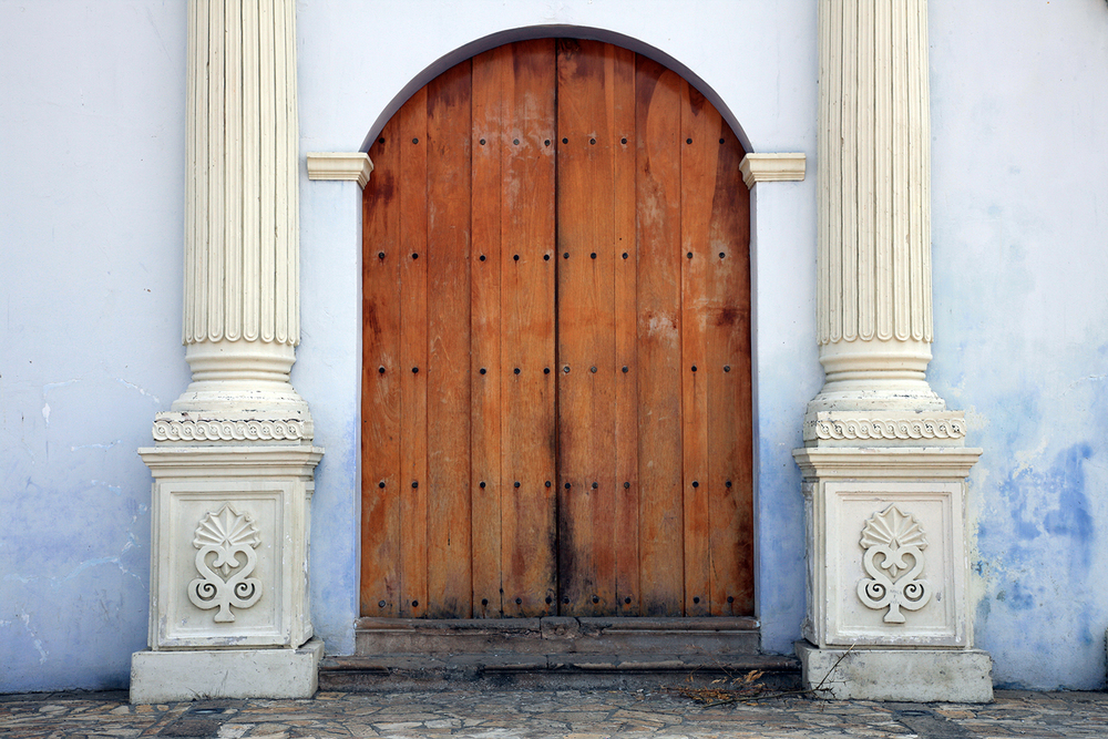 Church Doors in Antigua