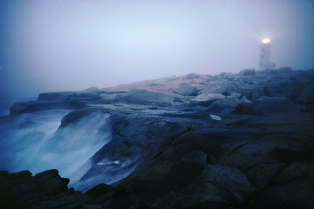 Peggy's Cove Light in Fog