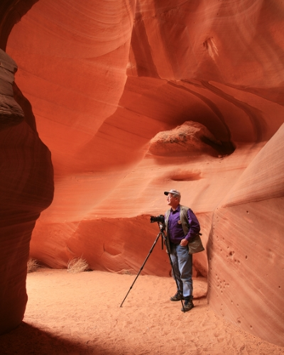 Working in Antelope Canyon