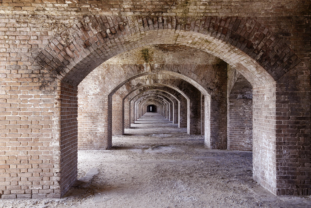 Endless Bricks in Dry Tortugas National Park