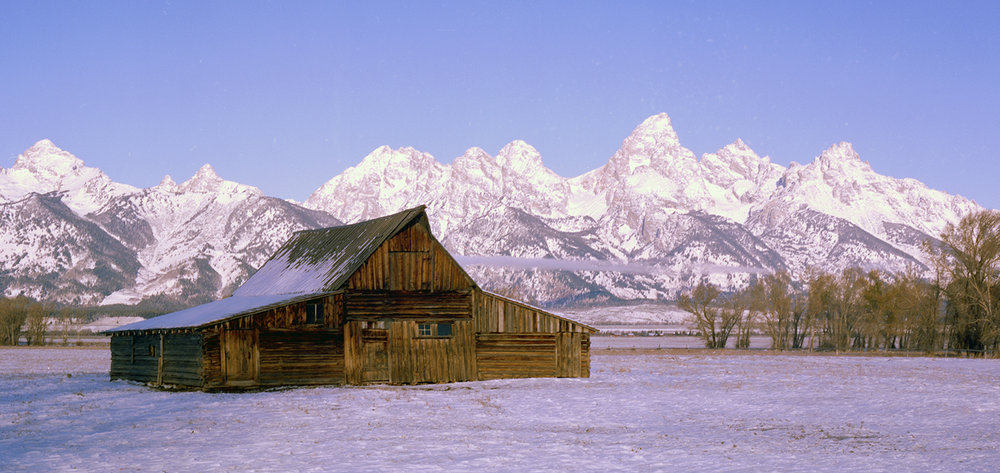 The Mormon Barn in Snow