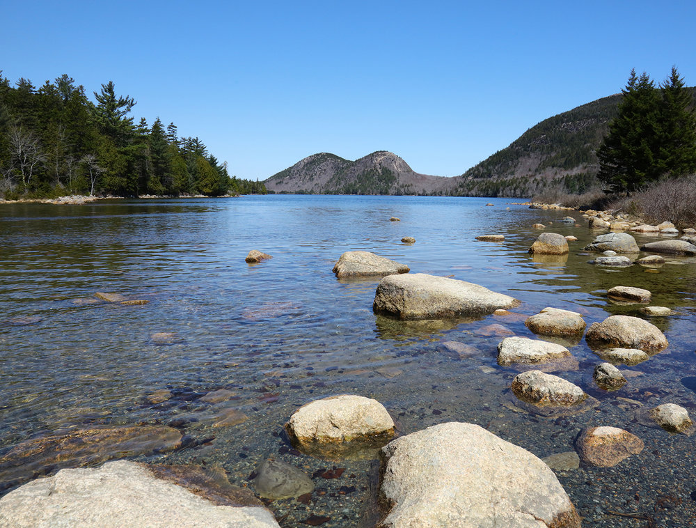 Jordan Pond in Early Spring