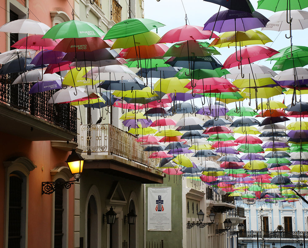 Umbrellas of Old San Juan
