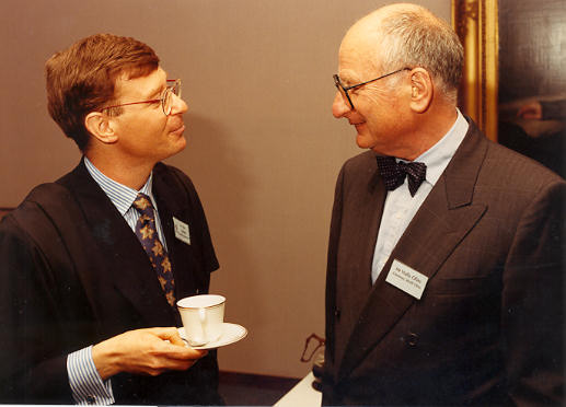Wally Olins - Chairman of Wolff Olins with Prof John Balmer