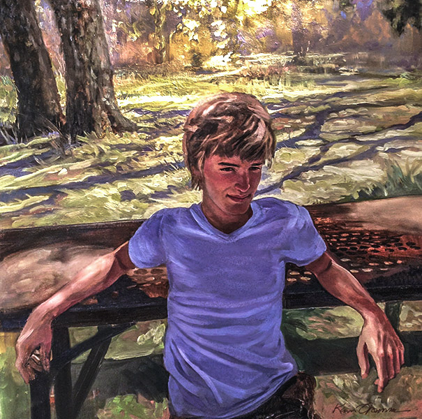 """""""Max relaxed"""" • 36"""" x 24"""" • oil on canvas • NFS"""