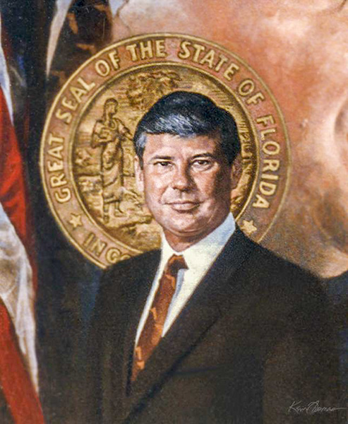 """Former Governor Bob Graham"" • 26"" x 32"" • oil on canvas • Sold"