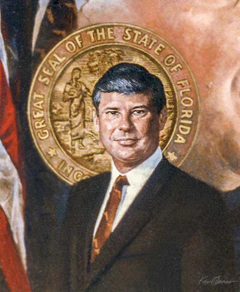 """""""Senator Bob Graham"""" • 26"""" x 32"""" • oil on Linen • Sold"""
