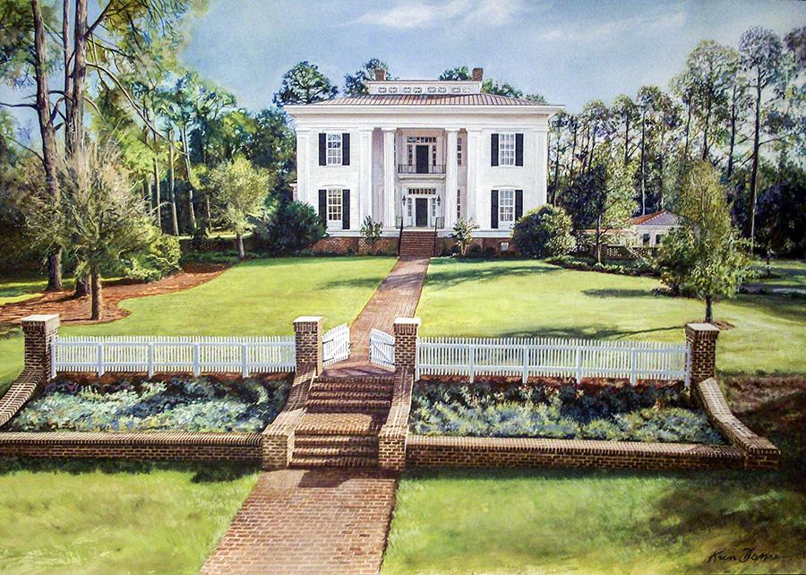 """""""FSU House"""" • 28"""" x 42"""" • watercolor • Sold"""