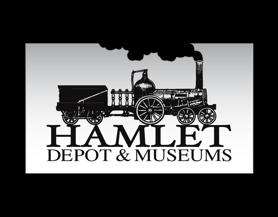 """Hamlet Depot & Museum"" • Design with die cut (option B) Hamlet, N.C. © KT"