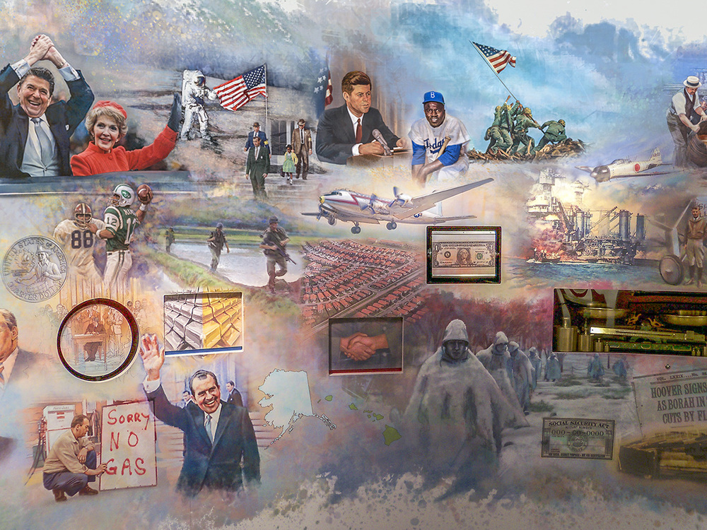 FED mural - Center view •  9' x 17' • Digital • Federal Reserve Bank Of Dallas, Dallas TX. © KT