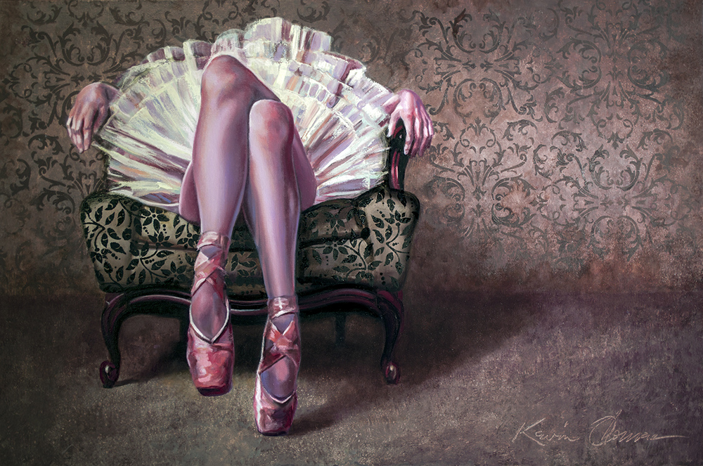 """""""Comfortable Pose"""" • 24"""" x 36"""" • oil on canvas • For Sale- please contact the studio for price."""
