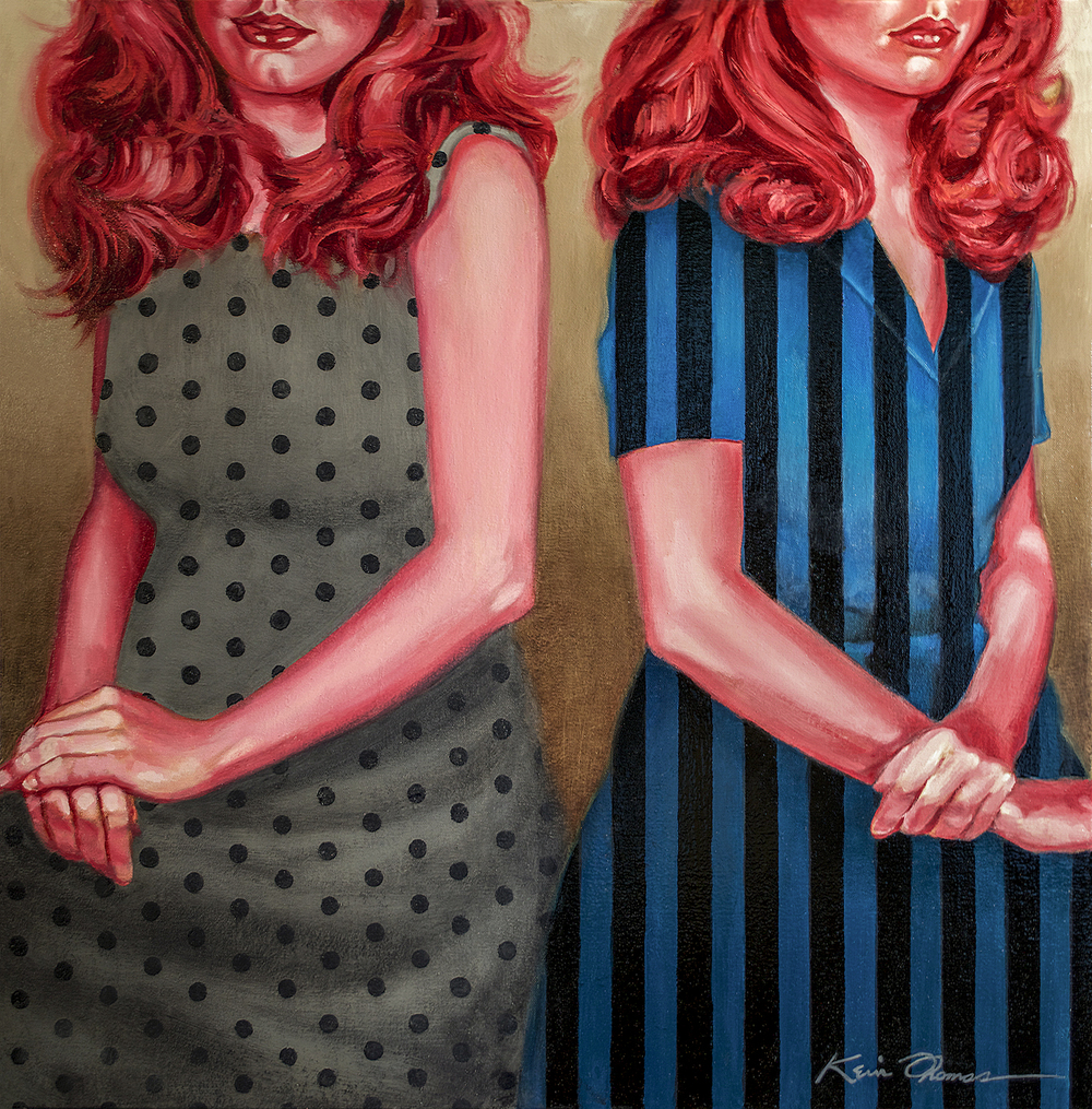 """"""" Karen & Mel"""" • 30"""" x 30"""" • oil on canvas • For Sale- please contact the studio for price."""