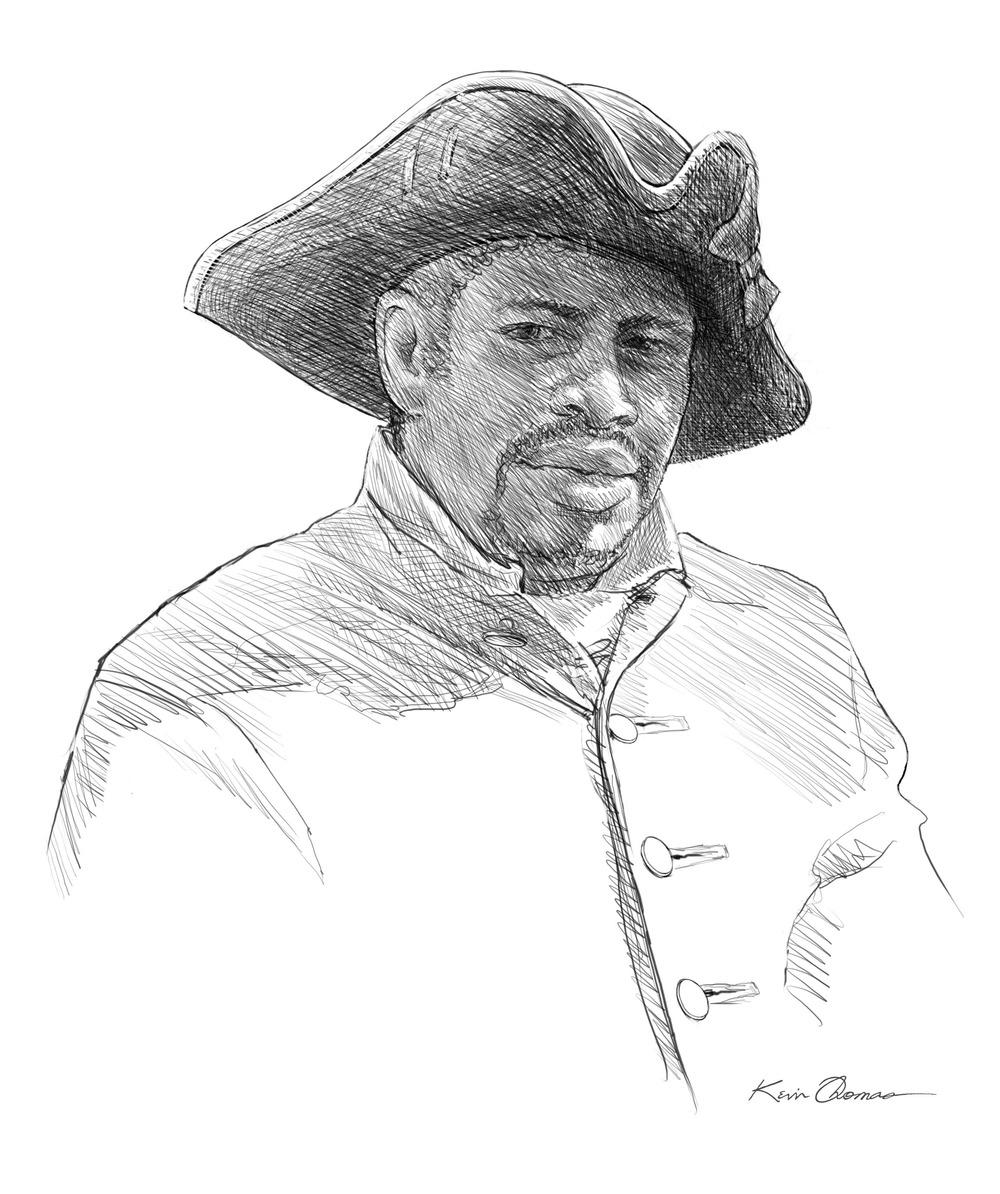 Captain Francisco Menendez • Digital rendering • Fort Mose Visitor Center, St. Augustine, FL. © KT