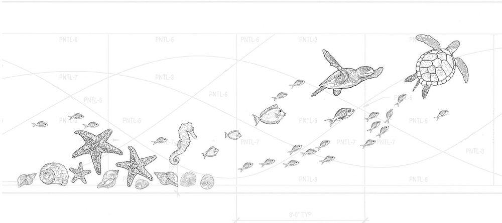 Design Concept for Sea Creature Graphic • University Health Systems, Children's Hospital – Pitt County Memorial Hospital.