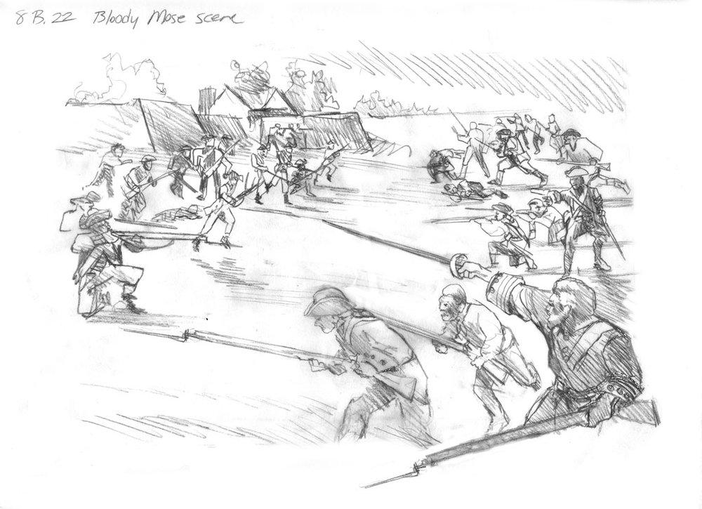 "Concept for ""Bloody Battle of Fort Mose"" • Fort Mose Visitors Center St. Augustine, FL. © KT"
