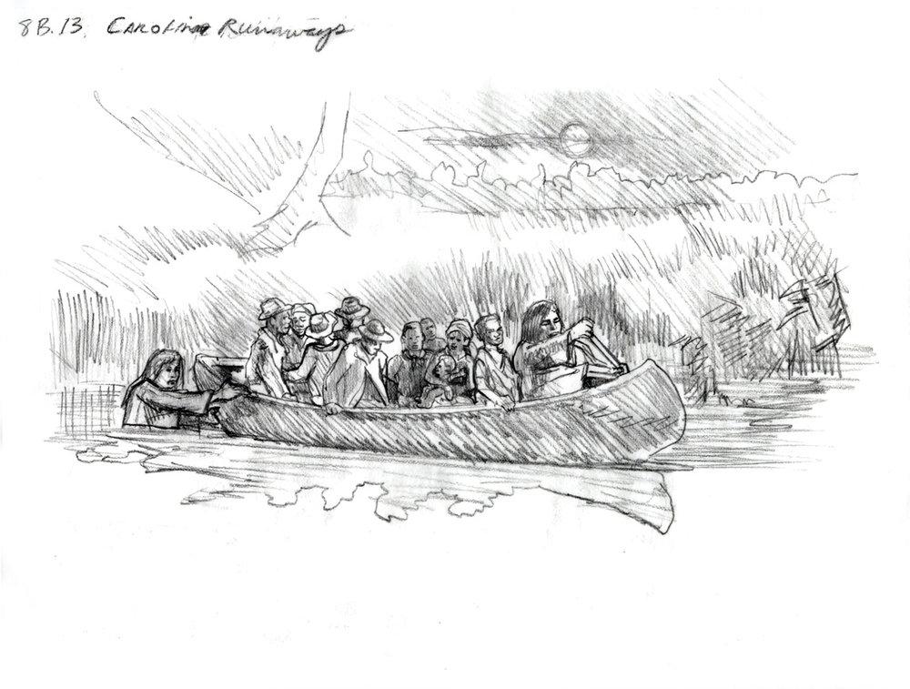 """Concept for """"Carolina Runaways"""" • Fort Mose Visitors Center St. Augustine, FL. © KT"""