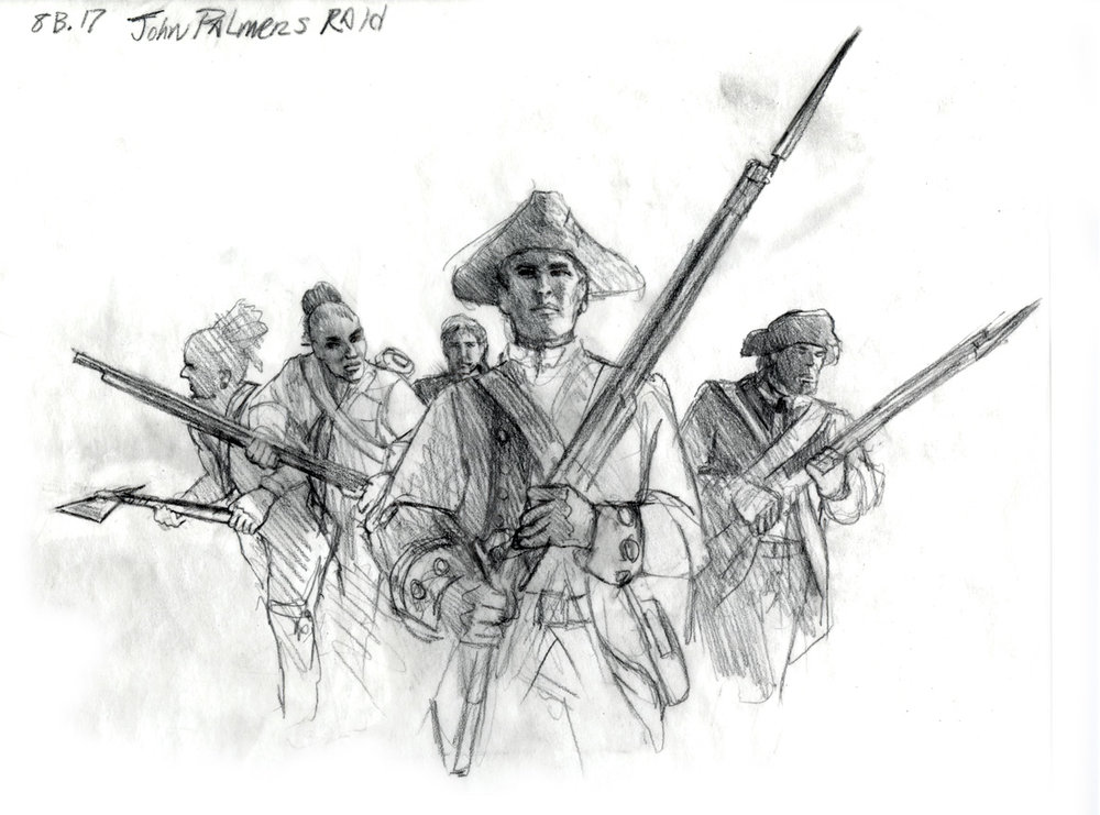 "Concept for ""John Palmer's Raid"" • Fort Mose Visitors Center St. Augustine, FL. © KT"