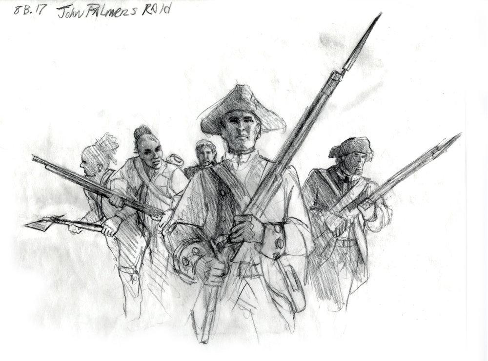 """Concept for """"John Palmer's Raid"""" • Fort Mose Visitors Center St. Augustine, FL. © KT"""