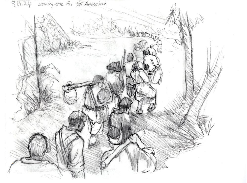 """Concept for """"Leaving St. Augustine"""" • Fort Mose Visitors Center St. Augustine, FL. © KT"""