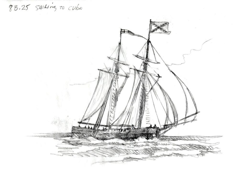 "Concept for ""Sailing to Cuba"" • Fort Mose Visitors Center St. Augustine, FL. © KT"