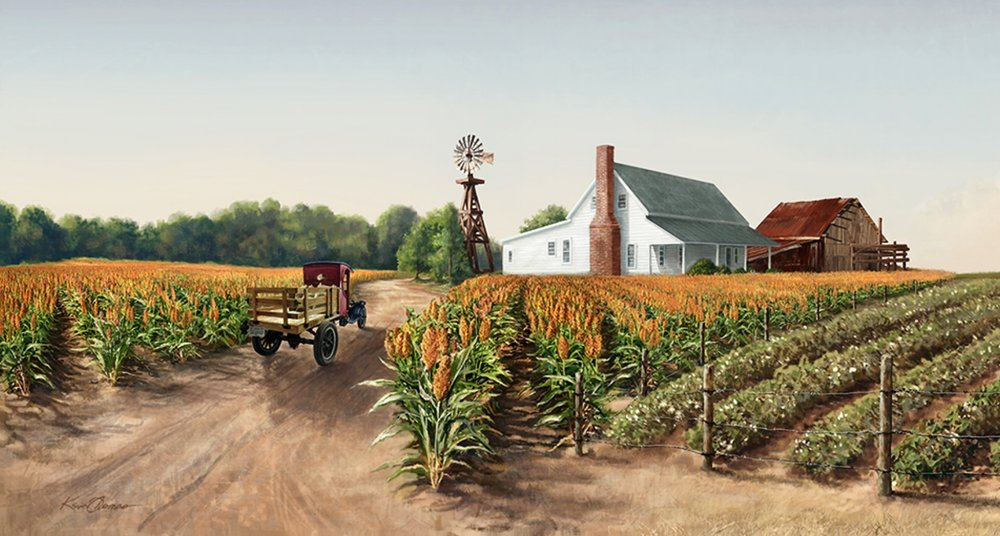 Bayer Museum of Agriculture • 52' w by 10' h • ( Left detail) Digitally rendered (Formally American Museum Of Agriculture) Lubbock, TX. © KT