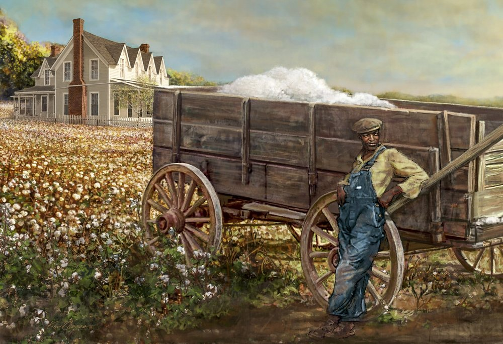 """""""Agricultural Mural""""- Left detail • 34' by 9' • Digital • Forney Spellman Museum • Forney, TX. © KT"""