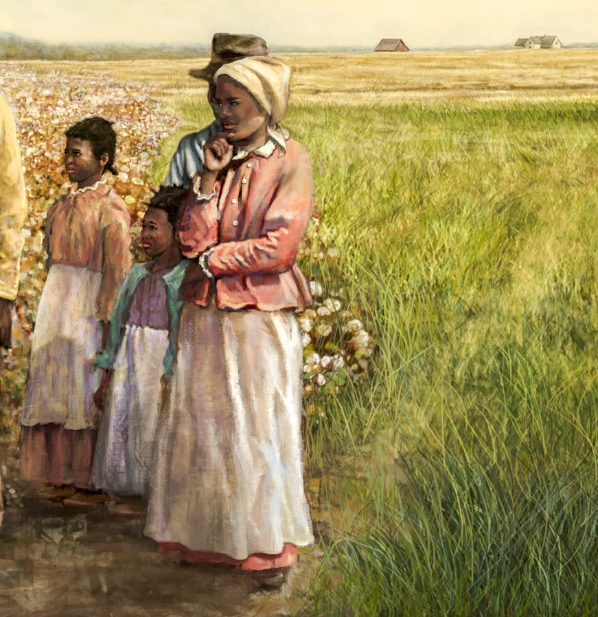 """""""Agricultural Mural""""- Center detail • 34' by 9' • Digital • Forney Spellman Museum • Forney, TX. © KT"""