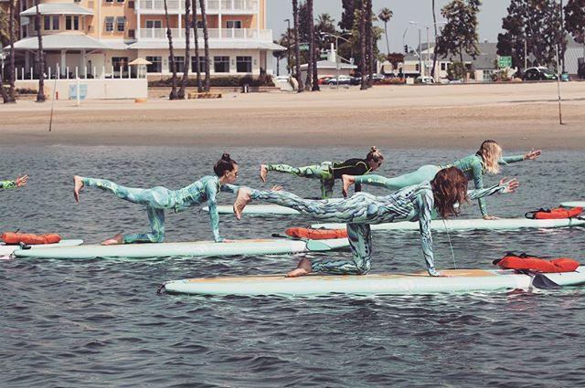 | This past weekend I had the incredible opportunity to be apart of a @yogaqua class down in gorgeous Marina Del Rey! Wearing my new favorite workout gear/water gear by @tutublueca! Can't wait to go back! Thanks ladies at Yoga Aqua for an amazing class and experience. Xo!