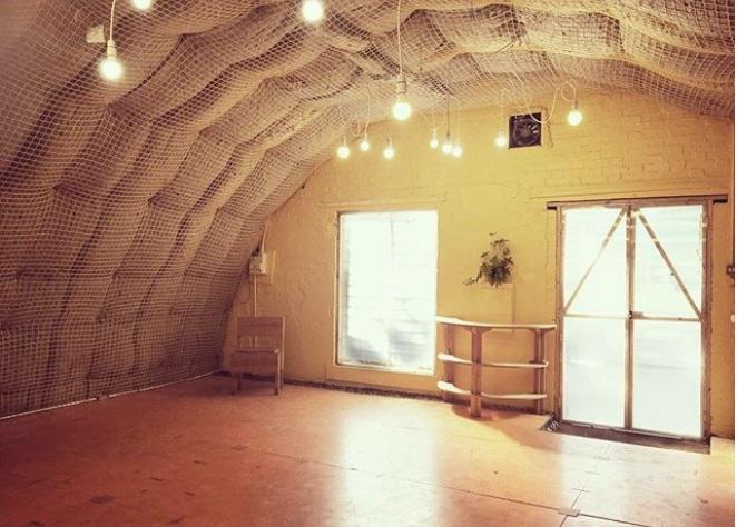 Dreamy venue for the Solo Show Creation Lab. 504 Arch, Brixton.
