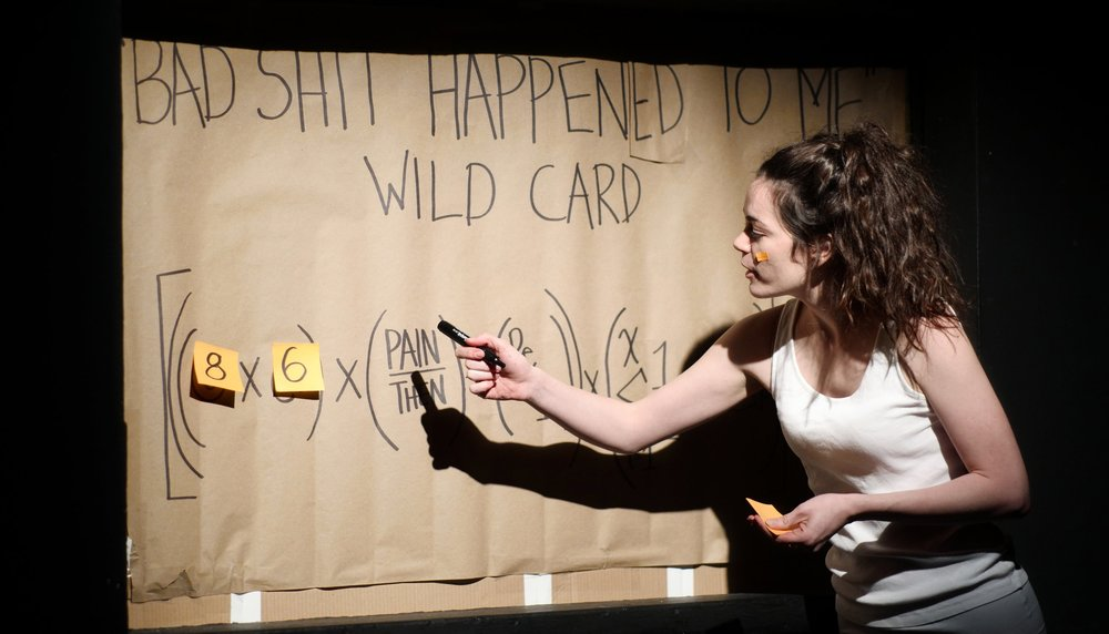 """Haley in her solo 'The Ex-Boyfriend Yard Sale' ★★★★★ """"one of the best shows of the year"""" -  Now Magazine"""