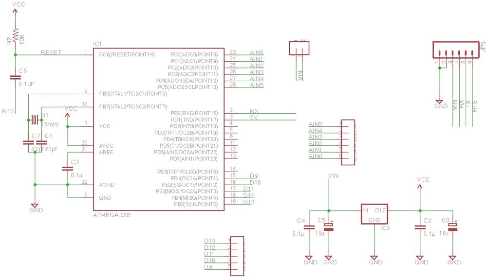 Minimalist Arduino Uno Schematic