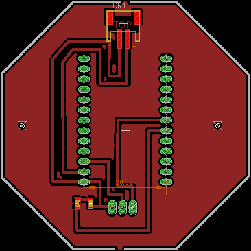PCB board design for microcontroller and radio module