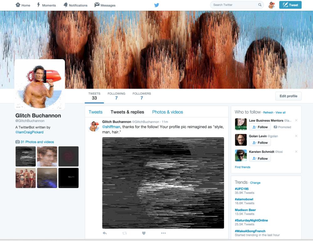 @GlitchBucannon's Twitter Profile.