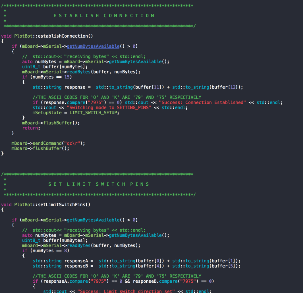 Screenshot of the communication library created using the Cinder C++ framework