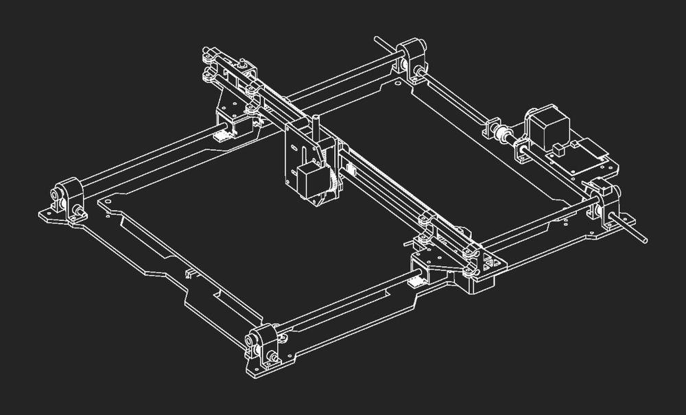 Isometric view of plotter design