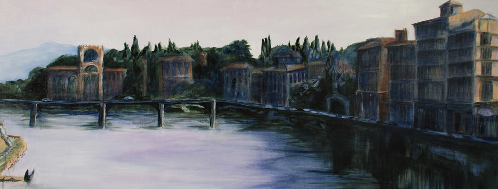 Lavender Dusk: The Arno